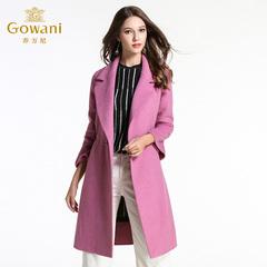 乔万尼冬季呢子大衣女中长款韩版新款修身大码宽松羊毛呢外套