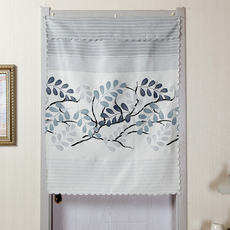 Household bedroom kitchen curtain partition curtain living room short curtain hotel restaurant bathroom decorative curtain half curtain