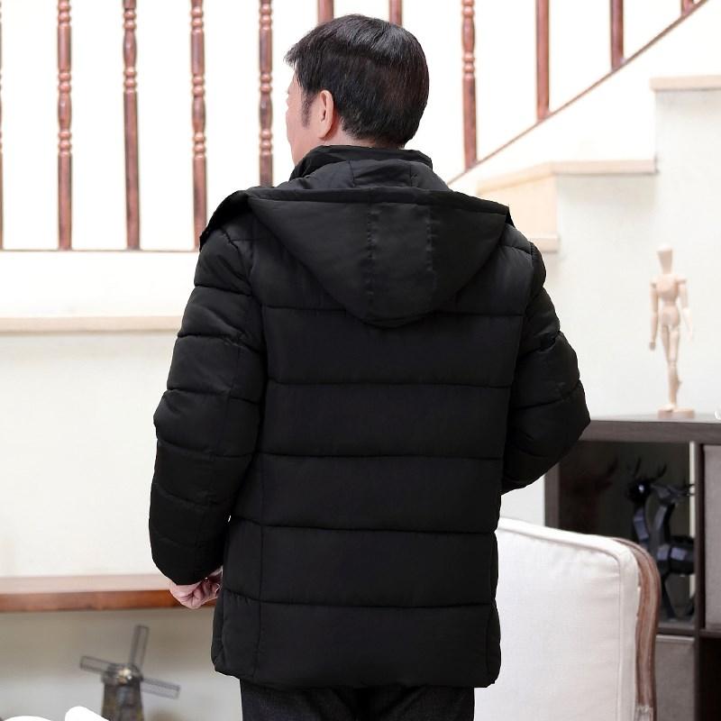 棉衣男士加绒加厚外套中老年人男装冬季羽绒棉服中年爸爸短款棉袄