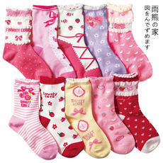 Japanese sweet cotton princess socks lolita bow strawberry embroidery socks lace short socks 28