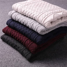 100 wool! Old customers you must enter! 2018 autumn and winter new men's round neck pullover sweater bottoming sweater