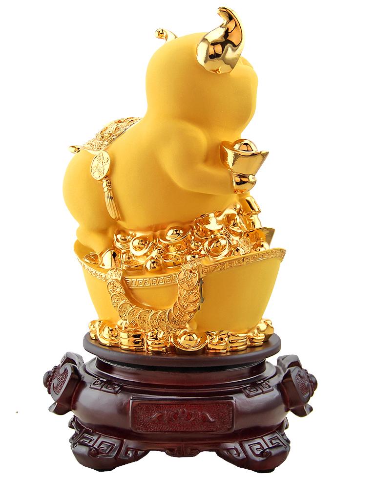 招财元宝金猪摆件家居饰品风水客厅酒柜摆设生日礼物生肖猪工艺品图片