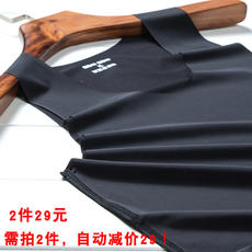 Ice silk seamless vest men's Slim summer ultra-thin breathable sweat-absorbent quick-drying bottoming sleeveless men