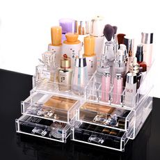 Cosmetic storage box home transparent desktop drawer acrylic lipstick plastic skin care dressing table finishing