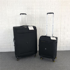 Export France black trolley case double explosion-proof zipper luggage universal wheel boarding large capacity shipping box