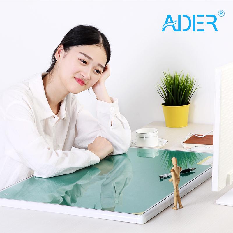 高档调温暖桌垫钢化玻璃电热板学生书写暖手垫办公电脑加热写字台