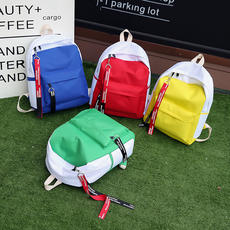 Canvas backpack tide Japanese Korean junior high school students campus wind color band Sen high school student bag female backpack