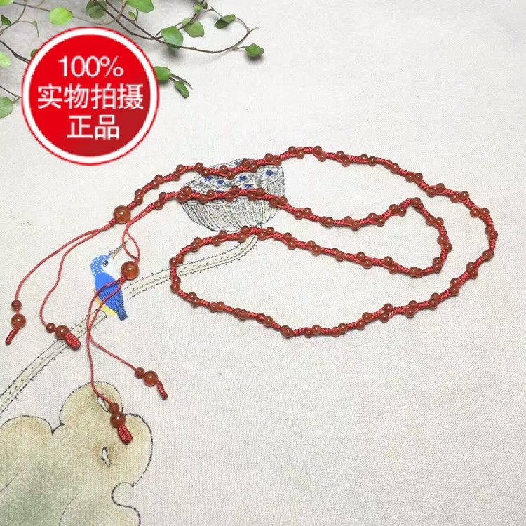 款鸡年辟邪开运红腰带红腰绳男 玛瑙本命年红绳腰链天然红 女其它