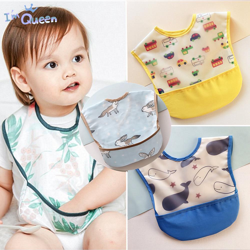 新款全棉宝宝饭兜儿童防水围兜防漏免洗婴幼儿口水巾新生儿食饭兜