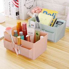 Desktop Cosmetics Storage Box Stationery Remote Control Plastic Finishing Box Dressing Table Jewelry Lipstick Miscellaneous Storage Box