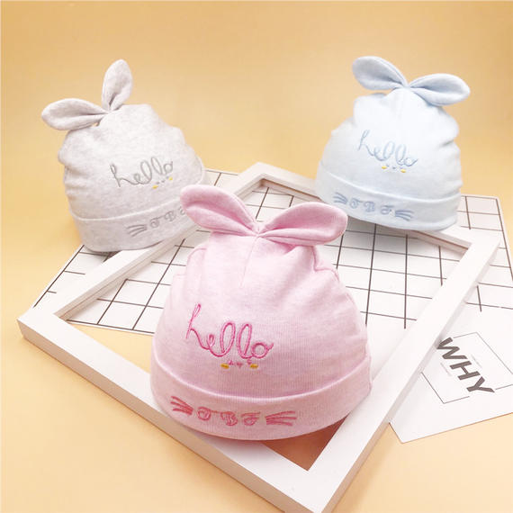 Baby hat spring and autumn 0-3-6-12 months male and female baby headgear cotton newborn baby cap baby cap
