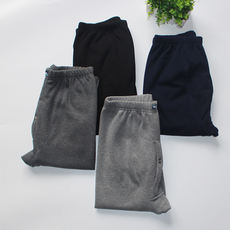 Winter middle-aged warm pants plus velvet thickening cold-proof loose wear home clothes father grandfather velvet pants old women's long pants