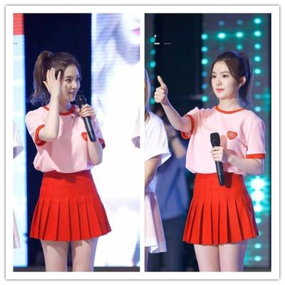 韩国舞蹈女团学生啦啦操演出服拉拉队同款足球宝贝啦啦队表演服装