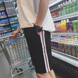日系宽松弹力短裤男夏季新款运动裤子青少年潮流五分裤男士直筒裤