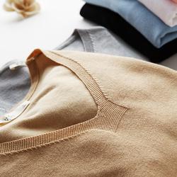 针织打底衫女长袖秋冬2017新款V领套头宽松长袖毛衣百搭修身上衣