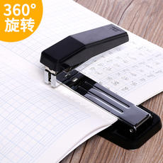 Deli can rotate the stapler student stapler large heavy-duty thickening stapler standard multi-function office supplies medium staples labor-saving bookbinding machine staple sewing machine