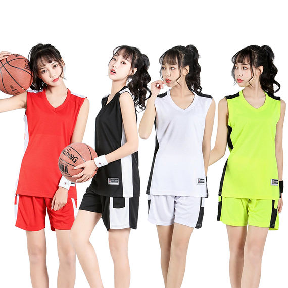 Student basketball uniform girls basketball uniform suit production requirements women's breathable sports competition vest team uniform group buy printing