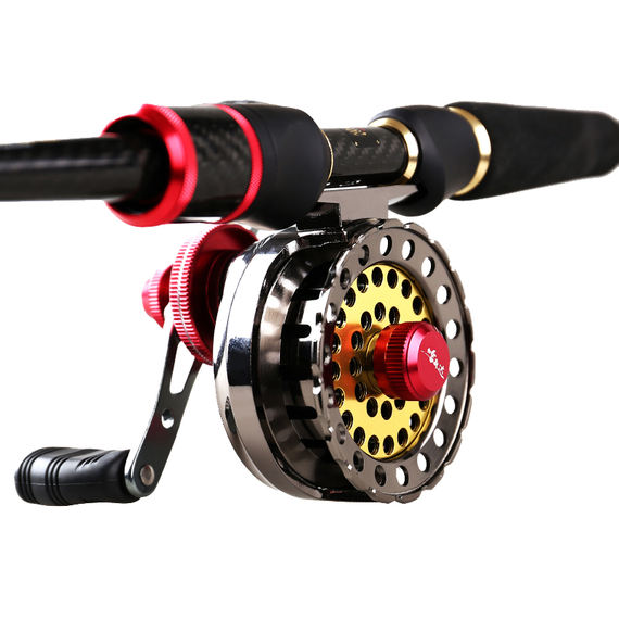Zhenp筏 wheel micro-lead wheel full gold 筏 fishing wheel front smashing wheel bridge cutting wheel stem wheel with venting fishing reel