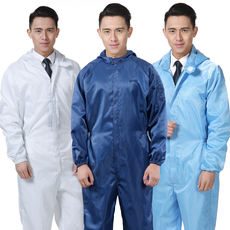 Anti-static piece hooded overalls food factory tooling uniform dust-free workshop spray paint suit dust-proof protective clothing