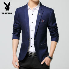 Playboy spring and autumn thin section casual suit men's Korean version of the self-cultivation cotton small suit youth large size coat