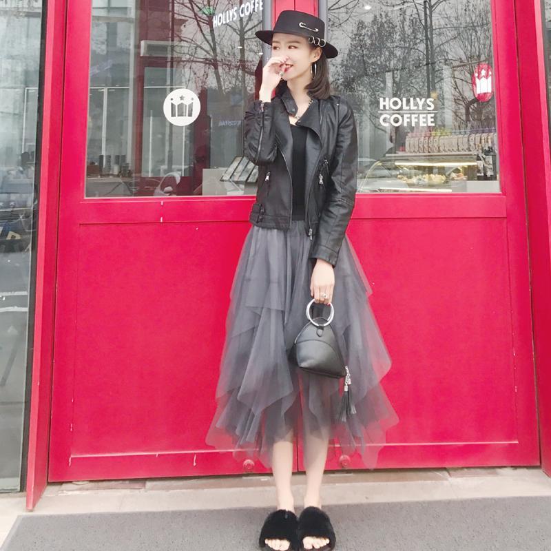 2019春秋女士新款夹克小皮衣春装短款修身韩版pu皮立领机车小外套