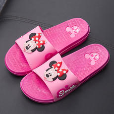 Spring and summer authentic Disney love Minnie Mic adult female non-slip couple sandals and slippers fun soft bottom