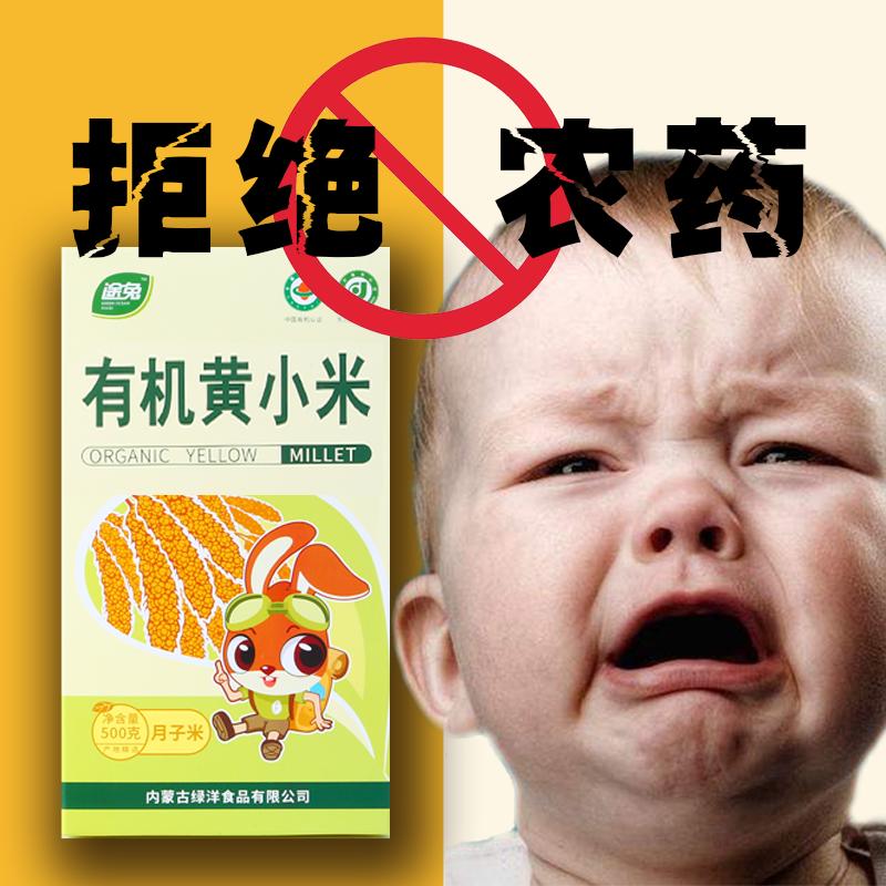 有机小米新米特级500g*5宝宝小黄米赤峰月子黄小米粥敖汉杂粮5斤
