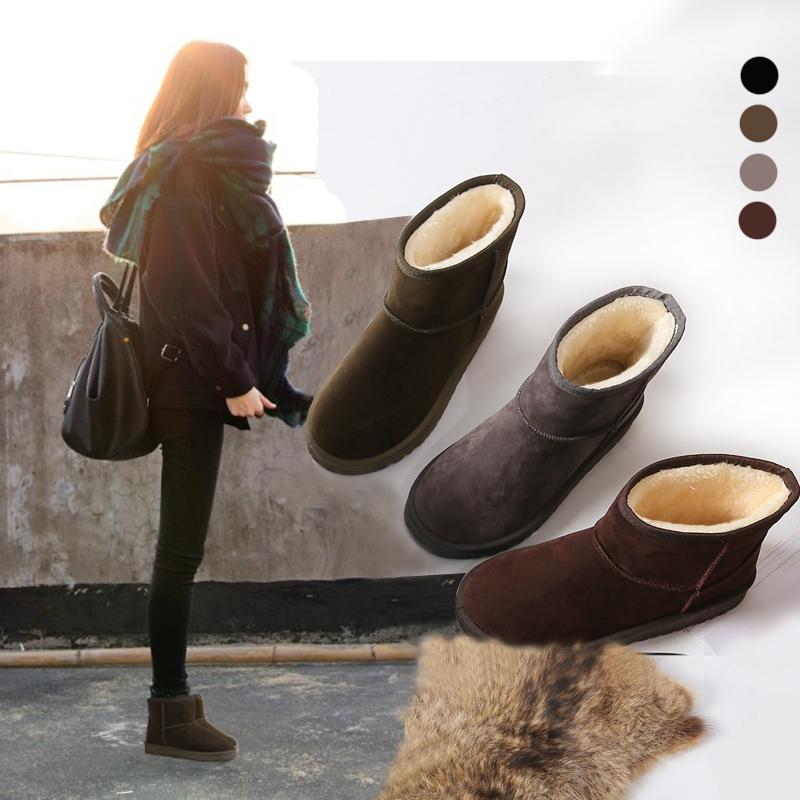 2018新款韩版冬季雪地靴女短筒靴加绒加厚情侣短靴男棉鞋学生女靴