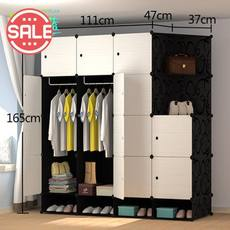 Large wardrobe cabinet closet storage resin plastic assembly