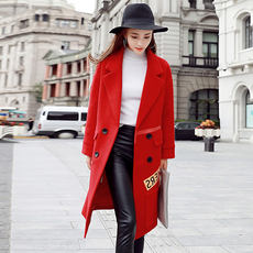 Cool Gaga Winter Fashion Korean Suit Collar Long Sleeve Trend Urban Winter Woolen Jacket 5895