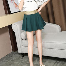 Cool gamma new fashion solid color slim elastic versatile skirt short skirt 3813