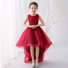 New flower girl princess dress girl dress skirt children catwalk dress host piano performance evening dress tail
