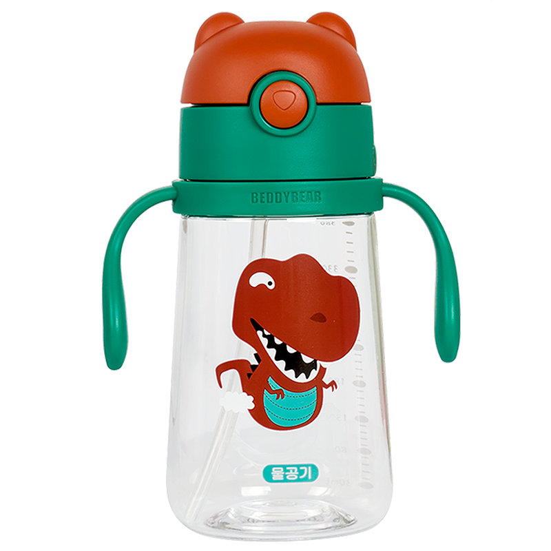 杯具熊儿童水杯吸管杯宝宝幼儿园防摔小学生夏季便携水壶夏天家用