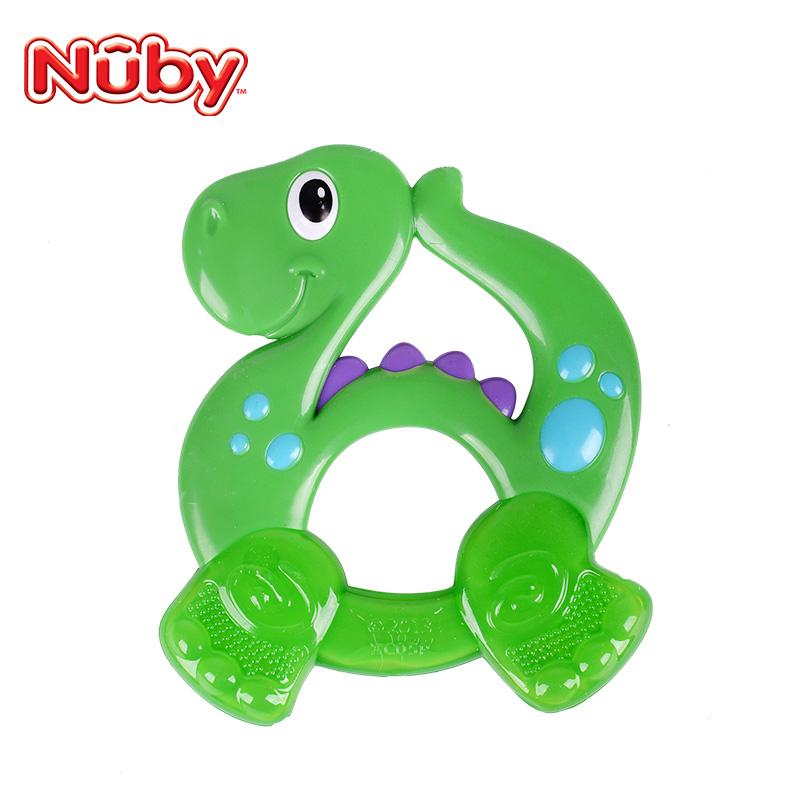 美国Nuby努比 宝宝磨牙棒儿童专用可爱舒适按摩固齿器牙胶新生儿