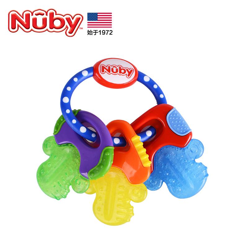 美国Nuby努比婴儿磨牙棒宝宝咬咬玩具磨牙婴儿咬胶冰胶固齿器牙胶