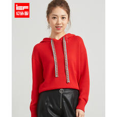 IEF/爱依服2018 summer new Korean version of the slim slimming solid color wild fashion long-sleeved knit sweater women
