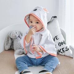 哈博仕宝宝斗篷披风夏装薄款男女童新生婴幼儿防风防晒外出服披肩