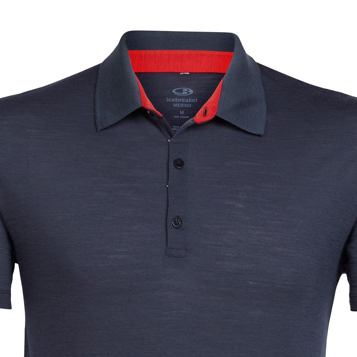 icebreaker短袖男POLO衫103203运动休闲速干排汗美丽诺羊毛T恤