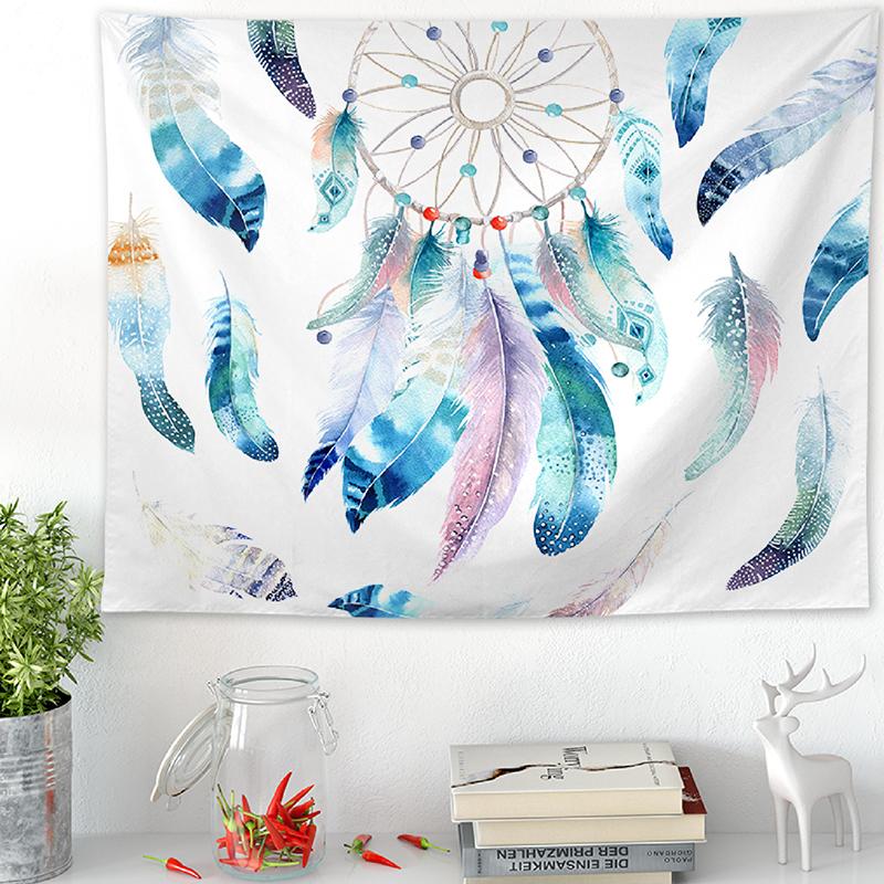 波西米亚风捕梦网挂布墙壁装饰毯挂毯壁布背景布桌布盖布隔断挂帘