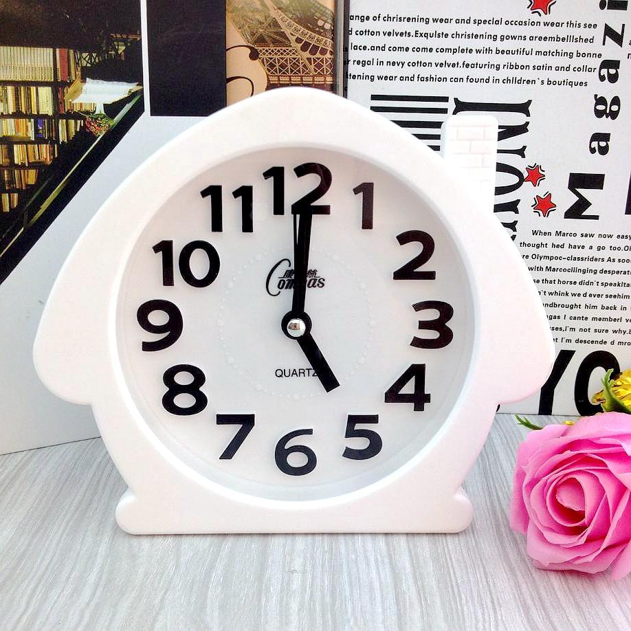 康巴丝学生创意小闹钟儿童卧室静音钟表电子时钟床头钟卡通闹表