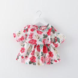 女童裙子夏季儿童碎花喇叭袖连衣裙0一1-3岁婴儿女宝宝夏装公主裙