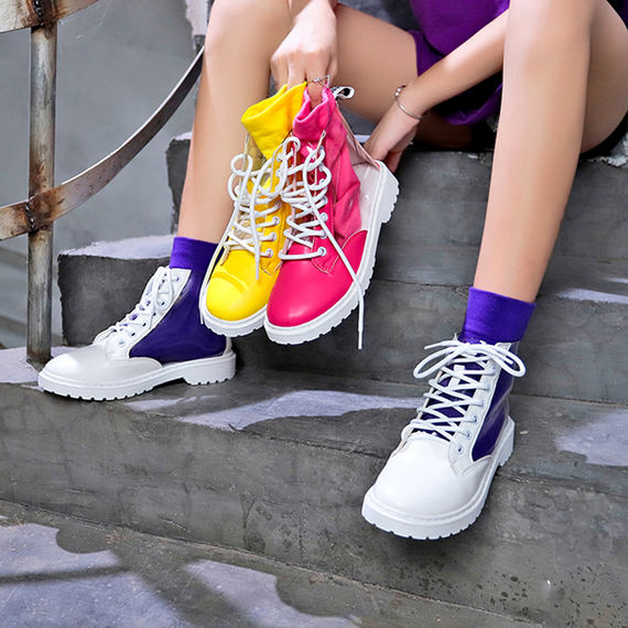 Martin boots female summer 2018 new wild high-top transparent boots Korean version of hip-hop female shoes tide student boots