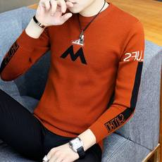 Sweater men's trend Korean version of the self-cultivation sweater youth round neck thick sweater 2018 new student bottoming shirt