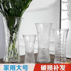 Transparent glass vase large rich bamboo vase decoration home living room desktop hydroponic lily flower vase