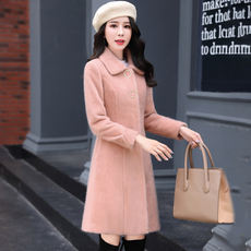 In the long section of gold velvet coat 2019 Korean version of the new autumn and winter Slim was thin fashion temperament ladies coat women's clothing