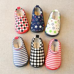 秋冬婴儿软底学步鞋女宝宝布鞋子1-3岁2男童鞋儿童一脚蹬地板单鞋
