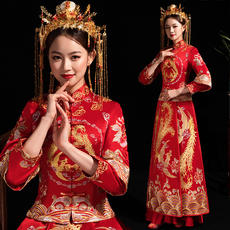 Show Wo clothing bride 2019 new Chinese dress out of the clothing toast clothing embroidered Wo clothing female show Wo married Woxi clothing