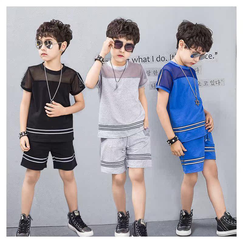 男童夏装套装2018新款5中大童6儿童装短袖7裤子9帅气13岁新品包邮