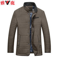 Yaloo Yalu men's cotton coat 2017 winter men middle-aged business casual cotton jacket daddy casual jacket M89065