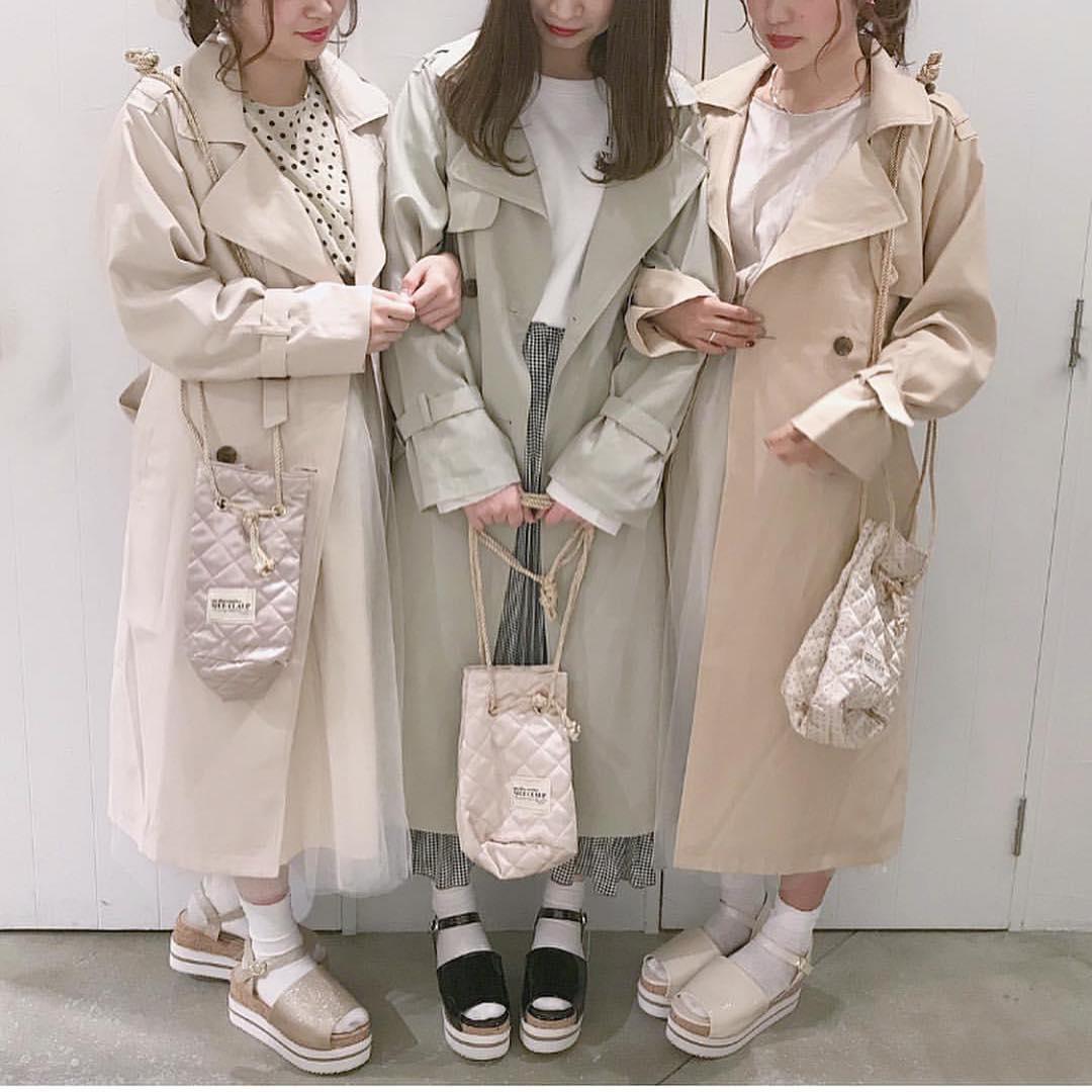 nc 独+元d 经典复古纯色 大翻领 腰带系带 长款外套宽松风衣